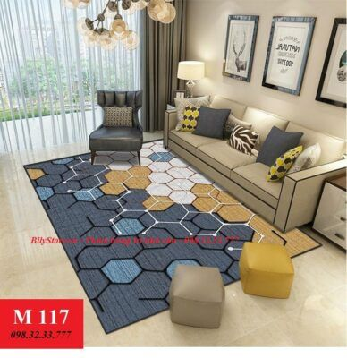 Mẫu thảm trải sàn phòng khách đẹp